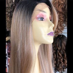 Accessories - Long sidepart wig Swisslace lacefront Blonde mix